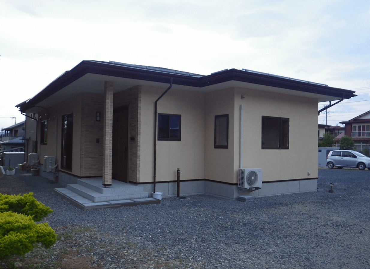 山形市沼の辺 House-S 平屋の住まい 外観