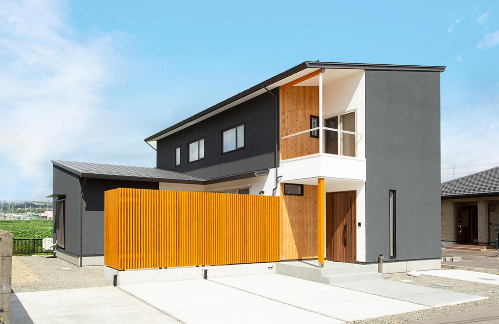 仙台市太白区の庭風の家 外観