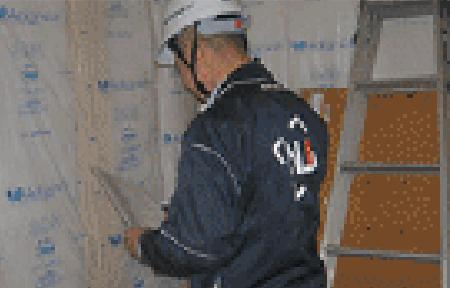 壁、天井断熱材施工完了後ボード施工前監査